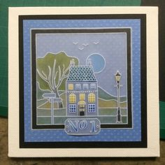 Wee Houses baby plate Groovi card created by Barbara Gray New home