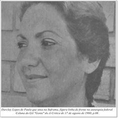 """Darclay Lopes de Paula. Coluna do Gil """"Gente"""" do A Crítica de 17 de agosto de 1980."""