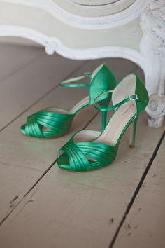 Brautschuhe grün