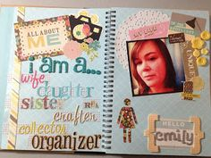 Mrs Crafty Adams | All About Me SMASH book: Introduction and Words to Live By