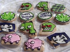 cartoon cookies invader zim