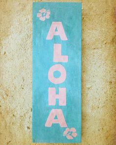 DIY Holzschild Aloha l Deko für den Balkon, Terrasse und Garten selber machen l Sommergefühle