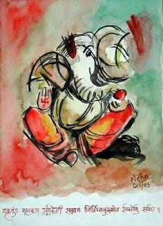 Ganesha watercolour