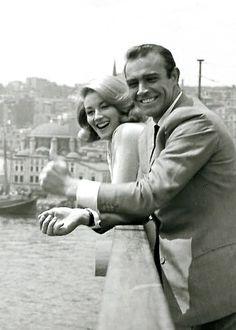 James Bond Girl n°2 - Daniela Bianchi est Tatiana Romanova (1963) avec Sean Connery - Bons baisers de Russie