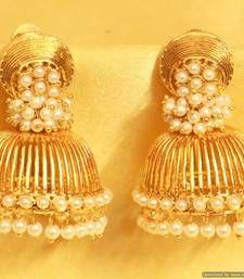 Buy Gold Look Pearl Jhumki jhumka online