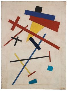 Artist unknown. In the style of Kazimir Malevich, n.d. Oil on canvas, 28.75 x 21.25 inches.