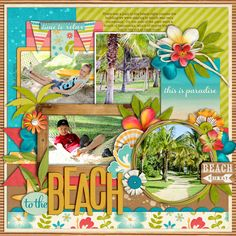 Beautiful page-colors, embellishments, love it!