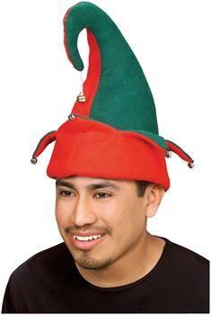 d8b0913c1bb Adult Red and Green Elf Hat with Bells. Christmas Elf CostumeChristmas Hats Santa s Little HelperBirthday ...