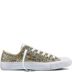 Chuck Taylor All Star Glitter Bianco/Oro/Argento white/gold/silver