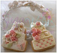 wedding cake look-a-like cookies