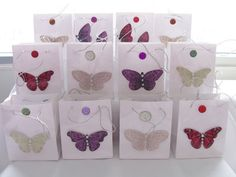 16 Butterfly jewel party favours  birthday by SparkleandComfort, $20.00