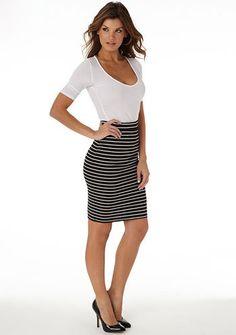 #Alloy                    #Skirt                    #Gianna #Striped #Pencil #Skirt                     Gianna Striped Pencil Skirt                                                   http://www.seapai.com/product.aspx?PID=786135