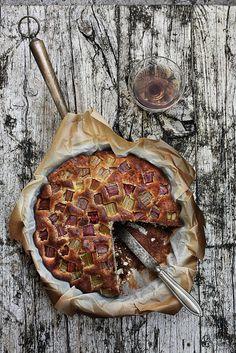 Pratos e Travessas: Bolo de ruibarbo e laranja # Rhubarb, orange cake