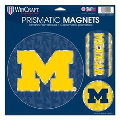 Michigan Wolverines Magnets 11x11 Prismatic Sheet