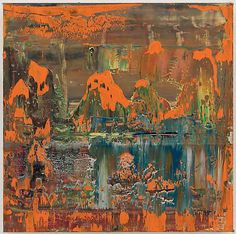 Gerhard Richter ABSTRACT PAINTING (906-2), 2008, 15 3/4 X 15 3/4 IN. ( 40 X 40 CM )