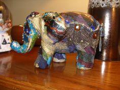 Decoupage elephant...my first