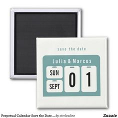 Shop Perpetual Calendar Save the Date Wedding Magnet created by circlealine. Save The Date Magnets, Save The Date Postcards, Save The Date Cards, Unique Save The Dates, Perpetual Calendar, Photo Magnets, Wedding Templates, Finding Love, Wedding Stationery
