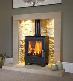 Buy Flavel Arundel Multifuel Wood Burning Stove securely online today at a great price. Flavel Arundel Multifuel Wood Burning Stove available today at Fireplace And . Log Burner Living Room, Home Living Room, Living Room Designs, Living Room Decor, Living Area, Wood Burner Fireplace, Fireplace Hearth, Fireplace Design, Gas Log Burner