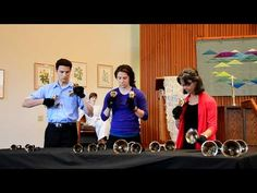 Theme from Pixar's 'UP' on handbells played by a trio...awesome!  Wish I could do four in hand...
