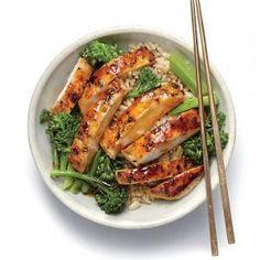 Lemon Chicken Teriyaki Rice Bowl Recipe from Cooking Light