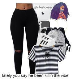 """08-14-2016."" by trillestqueen ❤ liked on Polyvore featuring Michael Kors, Casetify, adidas Originals and Chicnova Fashion"