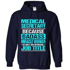 MEDICAL SECRETARY T Shirts, Hoodies. Check Price ==► https://www.sunfrog.com/No-Category/MEDICAL-SECRETARY-6180-NavyBlue-Hoodie.html?41382