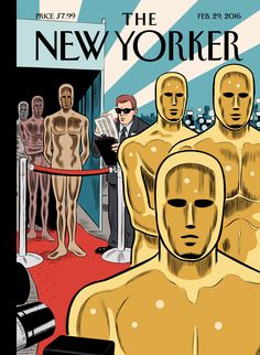 """The New Yorker - Monday, February 29, 2016 - Issue # 4628 - Vol. 92 - N° 3 - Cover """"Privileged Charactercs"""" by Daniel Clowes"""