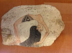 Museo Egizio Torino  Egyptian Dancer painted  on limestone ostracon, XIXth Dynasty,  c. 1200 BCE, Deir-el Medina, 20 x 15 cm, (Photo: P. Hunt 2012)