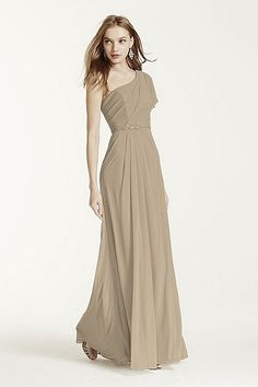 MORE COLORS One Shoulder Beaded Dress with Side Slit Style F15519 In Store & Online $159.00