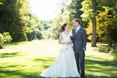 Bride and groom in the gardens of the Bradley Estate, Canton, MA