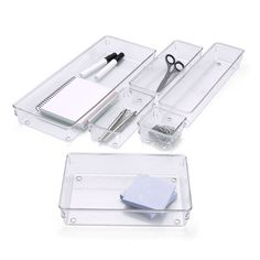 Linus™ Shallow Drawer Organizers- I need these for my make up and craft supplies