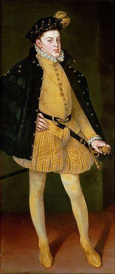 Portrait de Charles, Prince d'Asturies, fils de Philippe II d'Espagne et de Marie Manuelle du Portugal