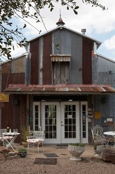 Corrugated metal as accent with awning | Industrial Hip