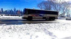 First NJT Bus Route 168 From NYC (NJT Service Was Suspended Saturday At 2am & Resumed On Sunday 12pm due To Winter Storm Jonas) #njt #railfanner #newjerseytransit #bus #newjersery #hudsoncounty #gardenstate #busz #autobus #bus #transit #transitenthusiastic #autocarro #blizzard2016 #westnewyork #hudsoncounty #blvdeast #follow #followme #railfanner #autobus #busz #autocarro #busfanning #busphotography #blizzardjonas #nycskyline #hudsonriver #midtownmanhattan by r142a_r188
