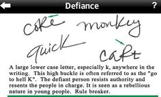 Defiance shown in handwriting Forensic Psychology, Educational Psychology, Psychology Facts, Forensic Science, Handwriting Analysis, Handwriting Ideas, Improve Your Handwriting, Palm Reading, Write To Me