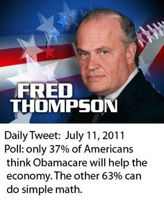 The daily tweet from Fred Thompson from 2011 -  If they had only listened!