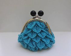 Crocodile Stitch, Blue Flowers, Bag Making, Coin Purse, Creations, Silver, Purse, Bags, Tricot