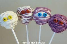 Ms. Fox's Sweets: Mummies, Monsters, & Hybrids Cake Pops