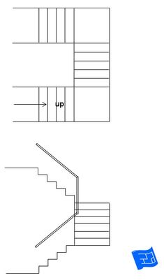 180 degree turn staircase. Click through to the website to read about staircase design considerations and lots more on home design. House Layout Plans, House Layouts, House Plans, Amazing Drawings, Cool Drawings, Corinthian Order, Stair Layout, Types Of Stairs, Plan Drawing