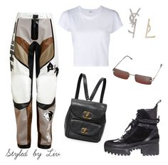 """motorbike"" by styledbylivm ❤ liked on Polyvore featuring Anne Sofie Madsen, Louis Vuitton, RE/DONE, Yves Saint Laurent and Christian Dior"