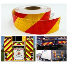 5cmx10m Reflective Safety Warning Conspicuity Tape Marking Film Sticker for Industry Transport Contruction Range