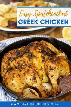 Greek Lemon Chicken, Greek Chicken Recipes, Lamb Recipes, Greek Recipes, Healthy Chicken Recipes, Dinner Recipes, Smoker Recipes, Healthy Meals, Delicious Recipes