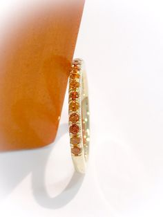 14K Citrine Eternity Band 1.6mm 14K Yellow Sapphire Pave Half Eternity Ring 14K Citrine Matching Band 14K Citrine Wedding Band Stacking Ring by SARRIEL on Etsy
