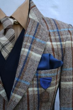 Mens Vintage Plaid Sport Coat with Ticket Pocket by ViVifyVintage