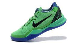 Nike Zoom Kobe 8 (VIII) System Elite Superhero - Poison Green/Blackened Blue - Hyper Blue Basketball Shoes New Men Design