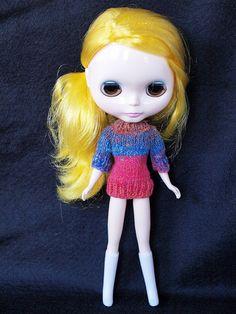 Lemony wearing a knit sweater by Say Llama, via Flickr
