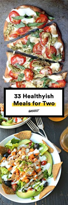 Healthy meals—from breakfast to dessert—perfectly portioned for a pair. #Greatist http://greatist.com/health/healthy-meals-for-two