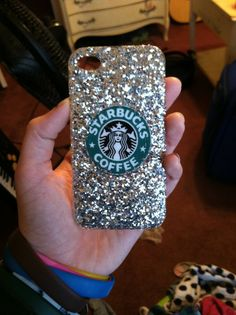 Iphone 4/4s/5 Sparkle Starbucks Case by SarahsPhoneCases on Etsy, $5.00