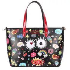Nicole Lee Original Fun Story Print Shopper Bag