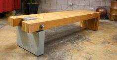 Concrete and wood bench by Cody Carpenter | CHENG Concrete Exchange